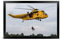 Sea King search & rescue demonstration, Framed Print