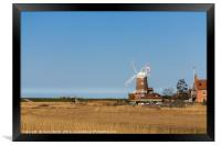 Cley Windmill next to the Salt marshes, Framed Print