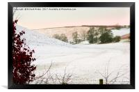 Brubberdale in the East Yorkshire Wolds, Framed Print