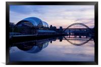 Dusk on the River Tyne, Framed Print