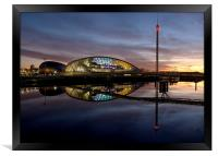 Glasgow science centre, Framed Print