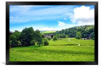 Bolton Abbey in North Yorkshire, England, Framed Print
