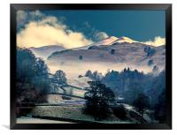 A Frosty Morning in The Lakedistrict, Framed Print