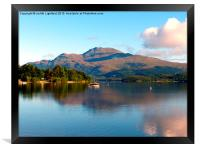 The peacful tranquility of Loch Lomond, Framed Print