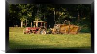 Tractor in the field, Framed Print