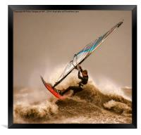 Windsurfing the Storm , Framed Print