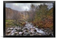 """""""Autumn mists in Thirlmere"""", Framed Print"""
