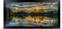Waterside Sunset, Framed Print