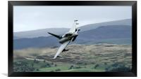 RAF Typhoon low level in Wales at the Mach Loop  1, Framed Print