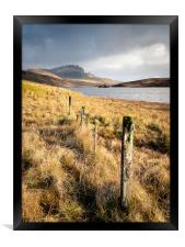 The Fence and The Storr, Framed Print