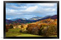 Autumn in the Langdales, Framed Print