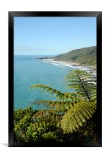 from the coast road, Framed Print
