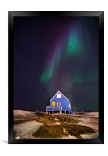 The Blue House At Oqaatsut, Framed Print