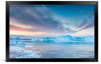 Sunrise Over The Kangia Icefjord In Greenland, Framed Print