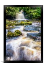 Cauldron Falls, West Burton, Framed Print