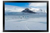 Fjallsárlon glacier (walk) Icelandic Views, Framed Print