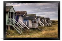 Old Hunstanton Beach Huts, North Norfolk, UK, Framed Print