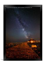 Milky Way above St Michaels Mount, Framed Print