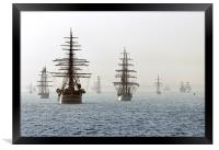 Talls ships take their place at the International , Framed Print