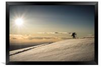 Back Country Skiing in the La Sal  Mountains, Utah, Framed Print