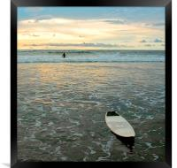 Playa Tamarindo, Costa Rica,  Surf and Sunset, Framed Print