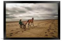 Horse and Cart, Framed Print