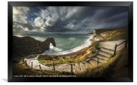 Durdle Door, Framed Print