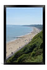 Bournemouth beach looking towards Sandbanks, Framed Print
