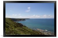 Cliffs at The Godrevy Heritage Coast in Cornwall, Framed Print