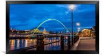 Newcastle Quayside at Night, Framed Print
