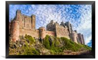 A different view of Bamburgh Castle, Framed Print