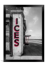 Colour tone Rendezvous ICES, Framed Print