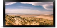 Panoramic from Budle Dunes, Framed Print