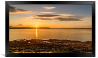 Photo's of Northumberland - Budle Bay Sunset, Framed Print