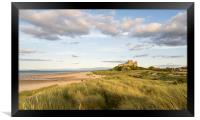 A different view Bamburgh Castle, Framed Print