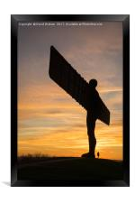 The Angel of the North, Gateshead - sunset, Framed Print