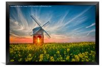 Sunburst at Chesterton windmill, Framed Print