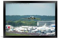The Vulcan takes off for it's final display at Fa, Framed Print
