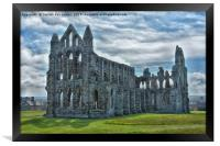 Whitby abbey yorkshire, Framed Print