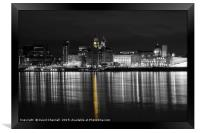 Liverpool Waterfront Selective Colour  , Framed Print