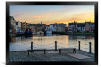 Pastel coliurs at the Shore in Leith, Edinburgh, Framed Print