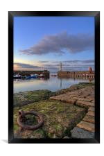 Newhaven lighthouse at sunset, Framed Print