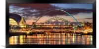 Tyne Bridges, Framed Print