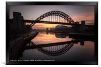 Sunrise at the Tyne Bridge, Framed Print