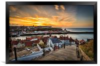 199 steps whitby., Framed Print