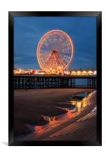 Blackpool at night , Framed Print