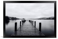 Coniston water on the lakedistrict, Framed Print