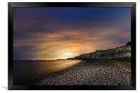 Seven Sisters at Night from Birling Gap , Sussex, Framed Print