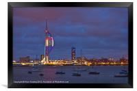 Spinnaker in Red, White and Blue, Framed Print