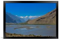 Pamir Mountains in the Wakhan Valley #2, Framed Print